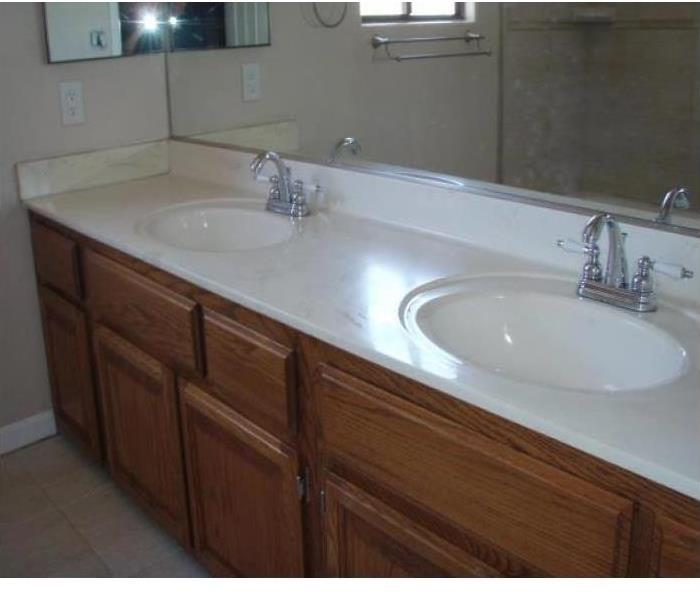 clean bright white countertops and walls