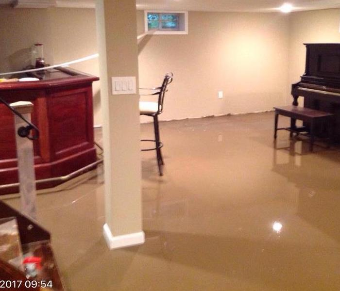 Flooded Basement in Smiithtown, NY  Before