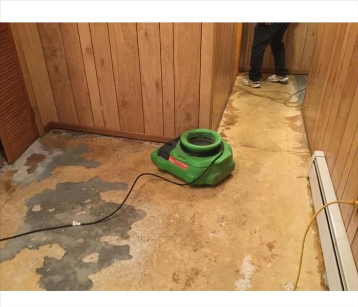 Subfloor with SERVPRO drying equipment